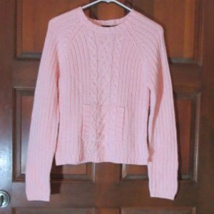 Pink Knit Sweater by PLANET GOLD Large